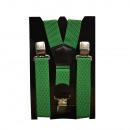Großhandel Gürtel: Long Hosenträger Y Form 4cm Breit Grün