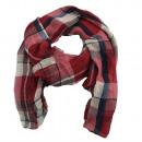 mayorista Ropa / Zapatos y Accesorios: Delgada bufanda a cuadros pañuelo rojo