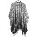 wholesale Pullover & Sweatshirts: PONCHO KNITTED Anthracite