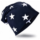 wholesale Headgear: Children Beanie  Hat Small Star Black Blue S