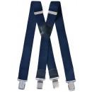 ingrosso Cinture: Lungo Bretelle X forma 4cm blu scuro
