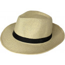 wholesale Party Items: Panama Hat Bogart Straw Hat Beige 56