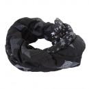 wholesale Scarves & Shawls:Star Loop Scarf Black