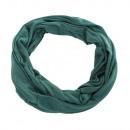 Großhandel Tücher & Schals: Jersey Stoff Rund Loopschal Unifarbe Patinagruen