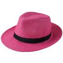 ingrosso Articoli da Regalo & Cartoleria: panama cappello di  paglia Bogart Rosa 58