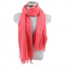 Winter Schal mit Quasten Unifarbe Altrosa