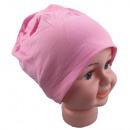 Kinder Beanie  Mütze Unifarbe Rosa S