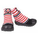 Großhandel Schuhe: Baby Hausschuhe Schiffsruder Rot 19