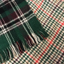 Winter Plaid Scarf Green