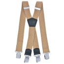 wholesale Belts: Long Braces X Shape 4cm Wide camel