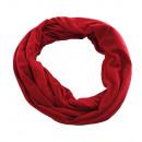 hurtownia Fashion & Moda: Jersey tkaniny  okrągłe Loopschal zwykły kolor czer