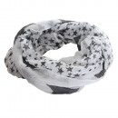 wholesale Fashion & Mode:Star Loop Scarf White