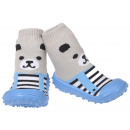 wholesale Shoes: Baby Slippers Bear Blue 22