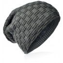 wholesale Fashion & Apparel: Knit beanie braided pattern anthracite