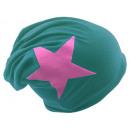 wholesale Headgear:Beanie Pink Star Petrol