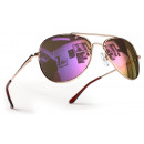 wholesale Ties: Kids Aviator Goggles Gold Purple