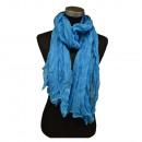 Großhandel Fashion & Accessoires: Crinkle Schal Offen Lichtblau
