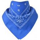 Großhandel Tücher & Schals: Bandana Paisley Königsblau