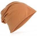 Großhandel Kopfbedeckung: Beanie Mütze Unifarbe Peach