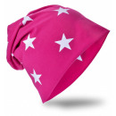 Children Beanie  Hat Small Star Magenta L