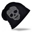 groothandel Figuren & beelden: Beanie Skull Strass Black