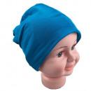 Kinder Beanie  Mütze Unifarbe Lichtblau S