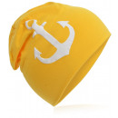 wholesale Headgear: Children's Beanie Hat Large Anchor Yellow M