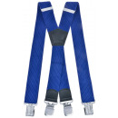 wholesale Belts: Long Suspenders X  Shape 4cm Wide royal blue