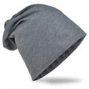 Beanie Mütze Unifarbe Dunkelgrau