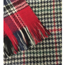 Winter Checked Scarf Red