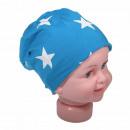 Kinder Beanie  Mütze Klein Stern Lichtblau S
