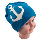 wholesale Headgear: Children Beanie  large anchor light blue S