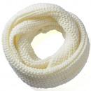 ingrosso Ingrosso Abbigliamento & Accessori: Maglia anello  sciarpa Wolla tinta unita bianco