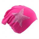 Beanie Rhinestone Star Pink