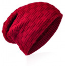 wholesale Fashion & Apparel: Knitted beanie braided pattern wine red