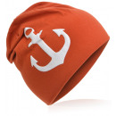 wholesale Headgear: Children's Beanie Hat Large Anchor Orange M