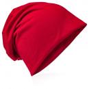 hurtownia Fashion & Moda: Czapka Beanie jednokolorowa, czerwona