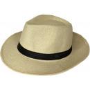 Großhandel Geschenkartikel & Papeterie: Panama Hut Bogart Strohhut Beige 58