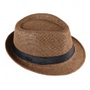 groothandel Stationery & Gifts: Panama Hat Fedora strohoed Brown 56
