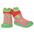 Großhandel Schuhe: Baby Hausschuhe Frosch Grün 19