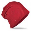 ingrosso Cappelli: Beanie strass Studded Borgogna