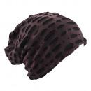 Großhandel Kopfbedeckung: Beanie Mütze  Destroyed Sattelbraun
