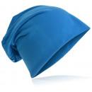 Großhandel Kopfbedeckung: Beanie Mütze Unifarbe Lichtblau