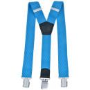 Lange bretels Y-vorm 4cm breed lichtblauw