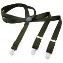 wholesale Belts: Long Braces Y  Shape Style Solid Color Fern Green