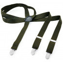 groothandel Kleding & Fashion: Lange bretel Y-vorm stijl effen kleur varen groen
