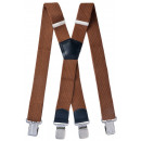 wholesale Belts: Long Braces X Shape 4cm Wide Nut Brown
