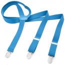 wholesale Fashion & Apparel: Braces Y Shape XXXL Light Blue