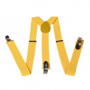wholesale Belts: Long Suspender Y  Form Style Unicoloured Yellow