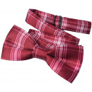 wholesale Ties: Bow Tie Kids Boys Red Checkered